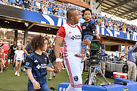 San Jose, CA - Saturday June 17, 2017: Victor Bernardez prior to a Major League Soccer (MLS) match between the San Jose Earthquakes and the Sporting Kansas City at Avaya Stadium.