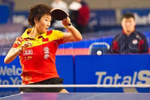 29.01.2011 English Open ITTF Pro Tour Table Tennis from the EIS in Sheffield. Xiaoxia Li of China