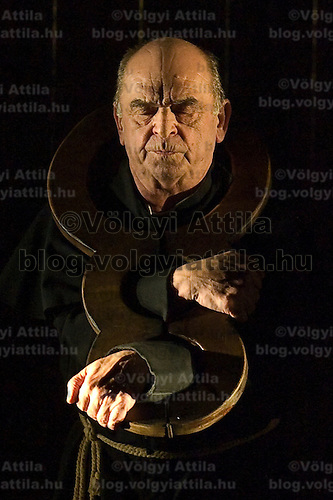 Actor Gyula Bodrogi performs the role of kent in Shakespeare's King Lear presented by the Hungarian National Theatre.
