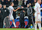 Sheffield United's Sander Berge shakes hands with Sheffield United's manager Chris Wilder after be substituted during the Premier League match at Selhurst Park, London. Picture date: 1st February 2020. Picture credit should read: Paul Terry/Sportimage
