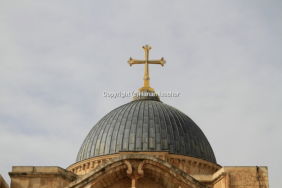 Israel, Jerusalem Old City, the dome of the Church of the Holy Sepulchre