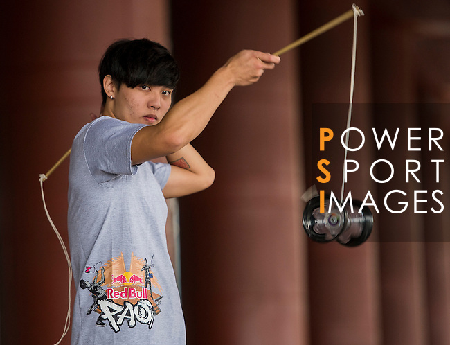 Chao Chih Han poses for a portrait ahead the Red Bull PAO 2015 at the National Taiwan Science Education Centre in Taipei, Taiwan. Photo by Aitor Alcalde / Power Sport Images