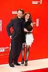 Jean-Hugues Anglade et sa compagne arrivent au Fouquets pour le repas après les César 2014, Restaurant le Fouquet's