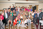60TH BIRTHDAY: Dermot O'Sullivan, Race Street Bungalows, Tralee (seated 3rd right) got big a big surprise when a large group of family and friends gathered to celebrate his 60th birthday at the Strand Road clubhouse on Saturday.