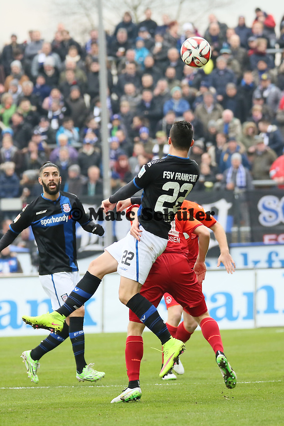 Kopfball Odise Roshi (FSV) - FSV Frankfurt vs. 1. FC Kaiserslautern, Frankfurter Volksbank Stadion