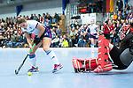 Mannheim, Germany, November 29: During the Bundesliga indoor women hockey match between Mannheimer HC and TSV Mannheim on November 29, 2019 at Irma-Roechling-Halle in Mannheim, Germany. Final score 4-4. (Copyright Dirk Markgraf / 265-images.com) *** Isabella Schmidt #31 of Mannheimer HC