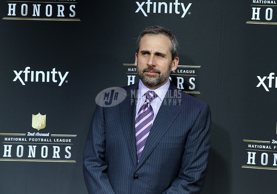 Feb. 2, 2013; New Orleans, LA, USA: Television actor Steve Carell walks the red carpet prior to the Super Bowl XLVII NFL Honors award show at Mahalia Jackson Theater. Mandatory Credit: Mark J. Rebilas-USA TODAY Sports