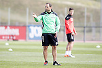 Getafe's coach Juan Eduardo Esnaider during training session. April 13,2016.(ALTERPHOTOS/Acero)