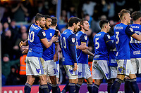 1st February 2020; St Andrews, Birmingham, Midlands, England; English Championship Football, Birmingham City versus Nottingham Forest; Birmingham City players celebrate the goal of Kristian Pedersen for scoring in the 74th minute to go 2-1 up
