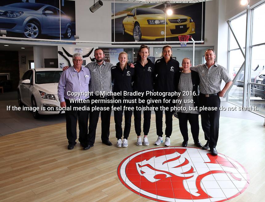 18.10.2016 Silver Ferns vist the Holden dealership in Invercargill. Mandatory Photo Credit ©Michael Bradley.
