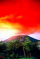 Arenal Volcano (Volcan Arenal) erupting, Arenal, Costa Rica