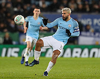 Manchester City's Sergio Aguero <br /> <br /> Photographer Andrew Kearns/CameraSport<br /> <br /> English League Cup - Carabao Cup Quarter Final - Leicester City v Manchester City - Tuesday 18th December 2018 - King Power Stadium - Leicester<br />  <br /> World Copyright &copy; 2018 CameraSport. All rights reserved. 43 Linden Ave. Countesthorpe. Leicester. England. LE8 5PG - Tel: +44 (0) 116 277 4147 - admin@camerasport.com - www.camerasport.com