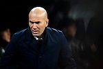 Real Madrid's Real Madrid's coach Zinedine Zidane during the match of La Liga between Real Madrid and   Real Sociedad at Santiago Bernabeu Stadium in Madrid, Spain. January 29th 2017. (ALTERPHOTOS/Rodrigo Jimenez)