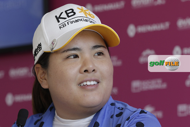 World No.1 Inbee Park (KOR) press conference during Wednesday's Pro-Am of the LPGA 2015 Evian Championship, Evian les Bains, France. 09/09/2015.<br /> Picture Eoin Clarke | Golffile