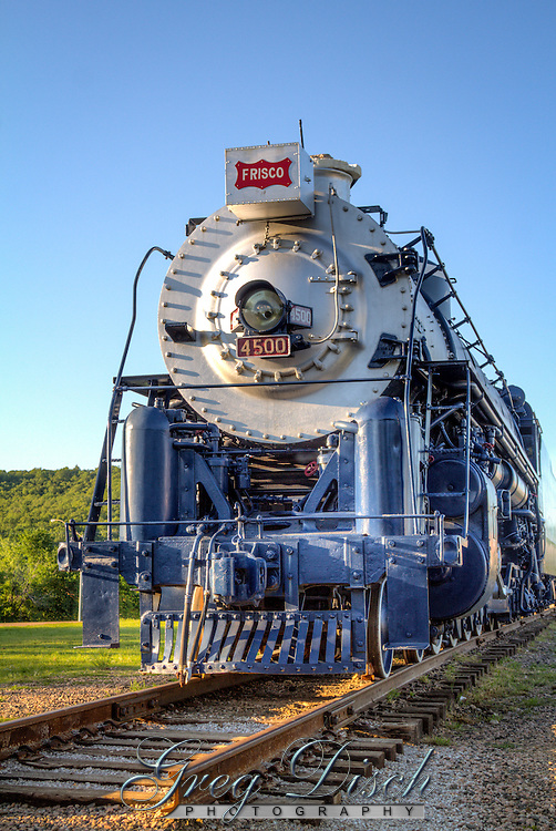 The Frisco Meteor 4500 Steam Engine at the Route 66 Village in Tulsa Oklahom.