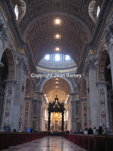 Interior of St. Peter's Church, Vatican - Italy