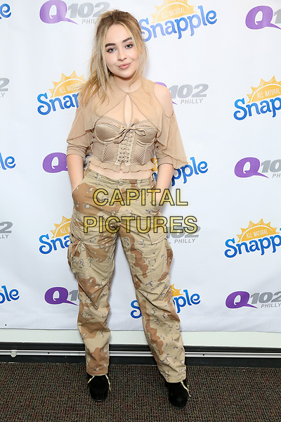 BALA CYWYD, PA - AUGUST 23 : Sabrina Carpenter visits Q102 performance studio in Bala Cynwyd, Pa on August 23, 2017 ***House Coverage <br /> CAP/MPI/STA<br /> &copy;STA/MPI/Capital Pictures
