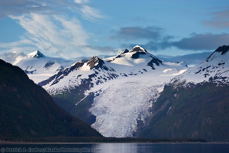 Coxe  Glacier, Chugach mountains, Chugach National forest, Prince William Sound, southcentral, Alaska.
