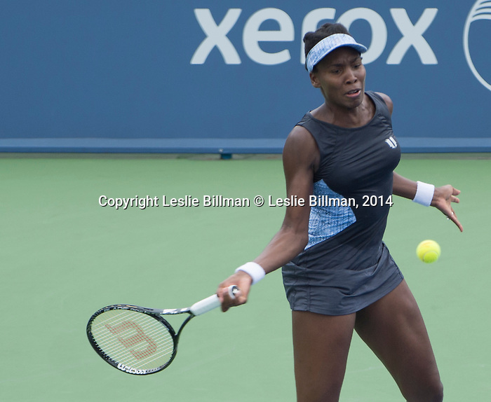 Venus Williams (USA) loses to Lucie Safarova (CZE) 6-7, 6-3, 6-4 at the Western & Southern Open in Mason, OH on August 12, 2014.
