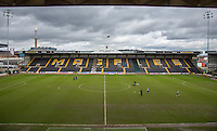 General view of the pitch during the Sky Bet League 2 match between Notts County and Wycombe Wanderers at Meadow Lane, Nottingham, England on 28 March 2016. Photo by Andy Rowland.