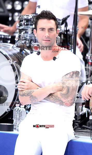 June 29, 2012 Adam Levine of Maroon 5 performs at Toyota Concert Series on NBC's Today Show in New York City. &copy; RW/MediaPunch Inc. *NORTEPHOTO.COM*<br /> **CREDITO*OBLIGATORIO** *No*Venta*A*Terceros* *No*Sale*So*third* *No*Se *Permite*Hacer*Archivo**