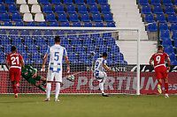 22nd June 2020; Estadio Municipal de Butarque, Madrid, Spain; La Liga Football, Club Deportivo Leganes versus Granada; Miguel Angel Guerrero (CD Leganes)  frustrated as he misses a penalty kick in the 65th minute