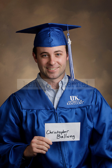 Ballweg, Christopher photographed during the Feb/Mar, 2013, Grad Salute in Lexington, Ky.
