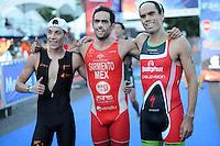 Triatlón Sports World Veracruz 2013- César Ramiro Saracho Ravelo, Sergio Sarmiento Aguilar, Francisco Serrano Plowells. ©NortePhoto.com ..<br /> YahirCeballos/NortePhoto