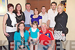 Connie and Mike O'Connor, Milleen, Kilcummin, pictured with Katie O'Connor, Michelle and Roisin O'Connor, Phil Dunne, Norma O'Connor, Ruaidhri O'Connor, Sean Clifford and Melissa Perry as they celebrated their 30th wedding anniversary in Lord Kenmares, Killarney on Friday night.