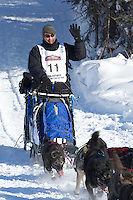 John Baker on Long Lake at the Re-Start of the 2012 Iditarod Sled Dog Race