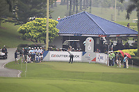Hideto Tanihara (Asia) on the 6th tee during the Saturday Foursomes of the Eurasia Cup at Glenmarie Golf and Country Club on the 13th January 2018.<br /> Picture:  Thos Caffrey / www.golffile.ie