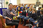 Story Telling in the Library with Niall de Burca...Photo NEWSFILE/Jenny Matthews.(Photo credit should read Jenny Matthews/NEWSFILE)....This Picture has been sent you under the condtions enclosed by:.Newsfile Ltd..The Studio,.Millmount Abbey,.Drogheda,.Co Meath..Ireland..Tel: +353(0)41-9871240.Fax: +353(0)41-9871260.GSM: +353(0)86-2500958.email: pictures@newsfile.ie.www.newsfile.ie.FTP: 193.120.102.198.