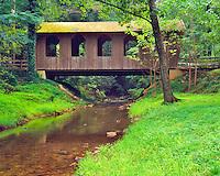 Pool Creek Covered Bridge, Near Lake Lure & Hanging Rock, Rutherford County, North Carolina