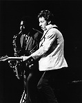 Bruce Springsteen 1980 with Clarence Clemons.© Chris Walter.