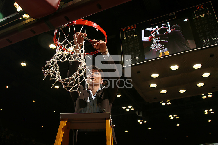 25 February 2007: Karen Middleton during Stanford's 56-53 win over USC at Maples Pavilion in Stanford, CA.