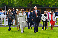 Owners and Trainers enter the Pared Ring during Evening Racing at Salisbury Racecourse on 25th May 2019