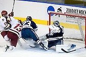 Joe Whitney (BC - 15), Cam Atkinson (BC - 13), Kevin Peel (Yale - 23), Billy Blase (Yale - 30) - The Boston College Eagles defeated the Yale University Bulldogs 9-7 in the Northeast Regional final on Sunday, March 28, 2010, at the DCU Center in Worcester, Massachusetts.