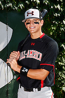 Shortstop Gavin Cecchini #2 poses for a photo before the Under Armour All-American Game at Wrigley Field on August 13, 2011 in Chicago, Illinois.  (Mike Janes/Four Seam Images)