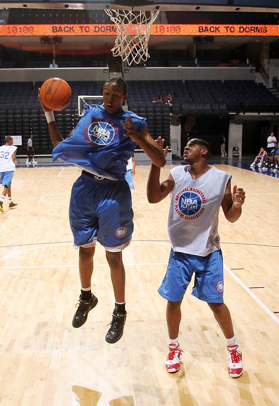 1/2G Matt Pressey (Ashburnham, MA / Cushing Academy) gets the rebound during the NBA Top 100 Camp held Thursday June 21, 2007 at the John Paul Jones arena in Charlottesville, Va. (Photo/Andrew Shurtleff)