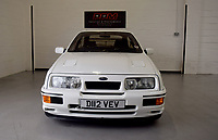BNPS.co.uk (01202 558833)<br /> Pic: PPMMiltonKeynes/BNPS<br /> <br /> A bit of all white..<br /> <br /> <br /> A pre-production prototype of the legendary Ford Sierra Cosworth RS500 has emerged for sale for a whopping £120,000.<br /> <br /> The RS500 was the road going version of Ford's iconic rally car with only 500 built in order to meet racing regulations.<br /> <br /> This one was the very first to be built in 1987 and in more recent times was road tested by Richard Hammond on the Grand Tour.