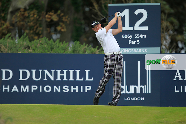 Jamie Donaldson (WAL) during Round 2 of the Alfred Dunhill Links Championship at Kingsbarns Golf Club on Friday 27th September 2013.<br /> Picture:  Thos Caffrey / www.golffile.ie