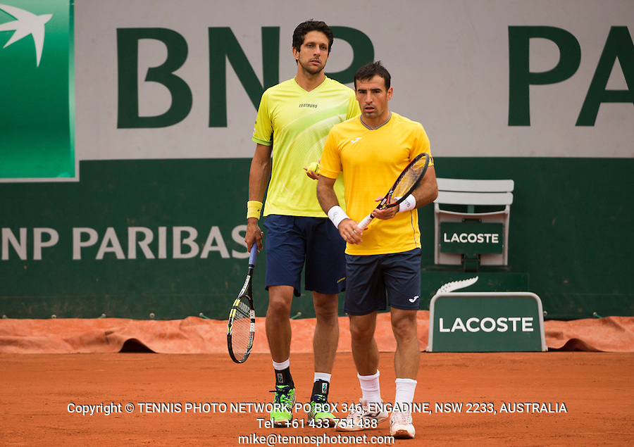 MARCELO MELO (BRA), IVAN DODIG (CRO)<br /> <br /> TENNIS - FRENCH OPEN - ROLAND GARROS - ATP - WTA - ITF - GRAND SLAM - CHAMPIONSHIPS - PARIS - FRANCE - 2016  <br /> <br /> <br /> <br /> &copy; TENNIS PHOTO NETWORK