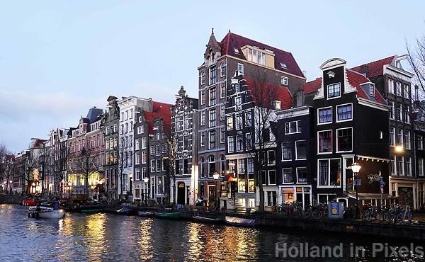 Nederland - Amsterdam - December 2018. Huizen aan de Herengracht. Foto Berlinda van Dam / Hollandse Hoogte