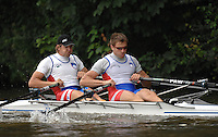 Henley, Great Britain.  SLO M2X, Bow, Luka SPIK and Iztok COP,  moving away from the start along Temple Island in his Heat of the Double Sculls Challenge Cup,  at  Henley Royal Regatta. Henley Reach, England 05/07/2007  [Mandatory credit Peter Spurrier/ Intersport Images]. Rowing Courses, Henley Reach, Henley, ENGLAND . HRR.