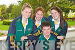 SWIM TEAM: The Swim team Tralee who are taking part in the International Children's Games at Lanarkshire, Scotland seated l-r:David Murphy. Back l-r: Grainne Sheehy, Katie Stack and Ashling O'Dwyer.