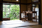 A  replica of the desk used by writer Lafcadio Hearn is on display inside his old residence in Matsue, Shimane Prefecture, Japan on 05 Nov. 2012. Photographer: Robert Gilhooly.