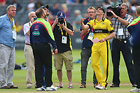 Michael Klinger of Gloucestershire tosses the coin ahead of Gloucestershire vs Essex Eagles, NatWest T20 Blast Cricket at The Brightside Ground on 13th August 2017