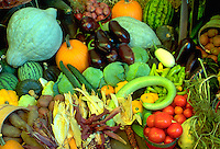 State Fair harvest vegetable arrangement.  St Paul Minnesota USA