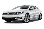 Stock pictures of low aggressive front three quarter view of 2017 Volkswagen CC Sport 4 Door Sedan Low Aggressive