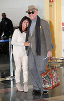 ARLINGTON, VA - FEBRUARY 3: Roger Stone  and wife, Nydia Stone, seen arriving at Ronald Reagan Washington National Airport in Arlington, Virginia on his way to Boston on February 3, 2019. <br /> CAP/MPI/MPI34<br /> ©MPI34/MediaPunch/Capital Pictures